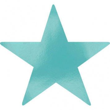 Robin's Egg Blue Large Foil Star Cutouts 5ct.