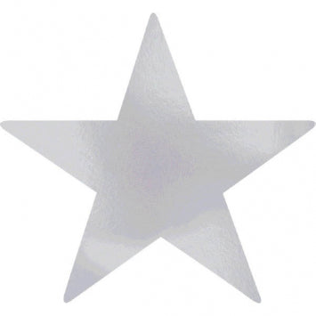 Silver Large Foil Star Cutouts 5ct.