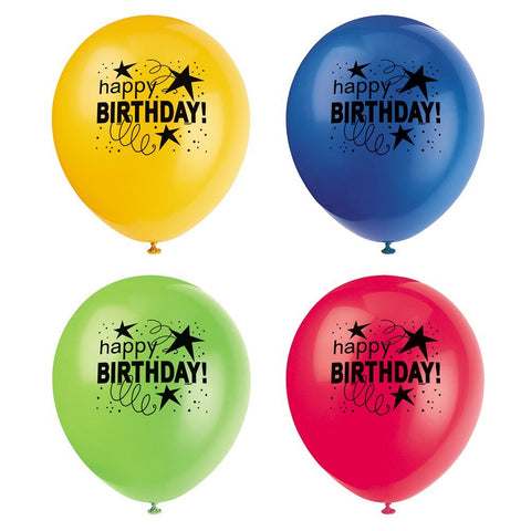 Cosmic Birthday Latex Balloons 8ct.