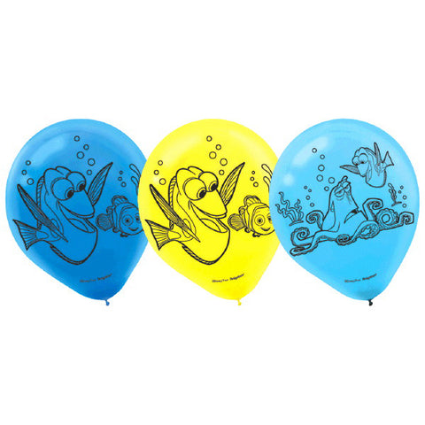 Finding Dory Printed Latex Balloons, Asst. Colors 6ct.