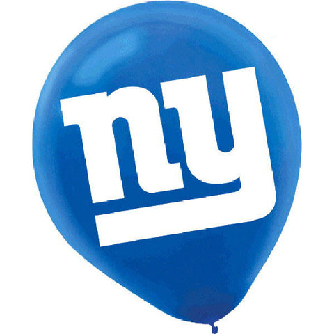 New York Giants Latex Balloons 6ct.