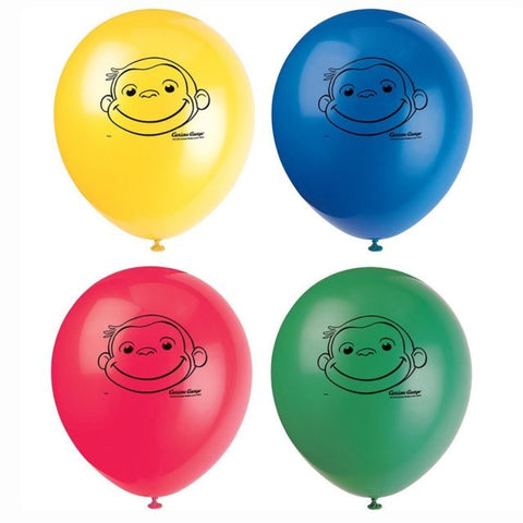 Curious George Latex Balloons 8ct.