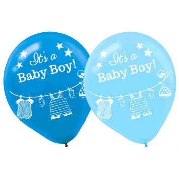 Shower with Love Boy Latex Balloons 15ct.