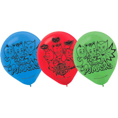 PJ Masks Latex Balloons 6ct.