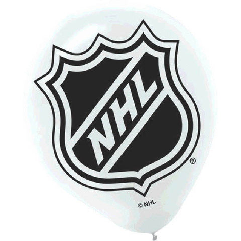"NHL 12"" Printed Latex Balloons 6ct."
