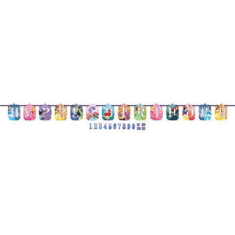 Princess Dream Big Ribbon Letter Banner