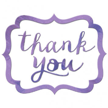 Lilac - Thank You Stickers 50ct.