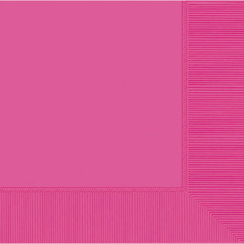 Bright Pink 3-Ply Luncheon Napkins 50ct.