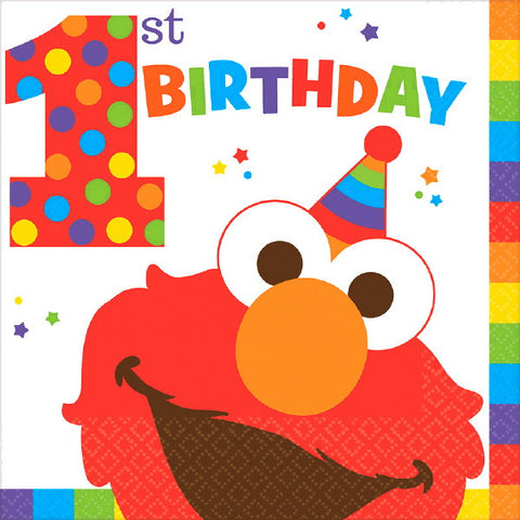 Elmo Turns One Luncheon Napkins 16ct.