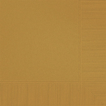 Gold 3-Ply Luncheon Napkins 50ct.