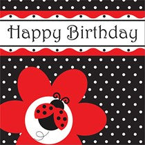 Ladybug Fancy Lunch Napkins, Happy Birthday 16ct.