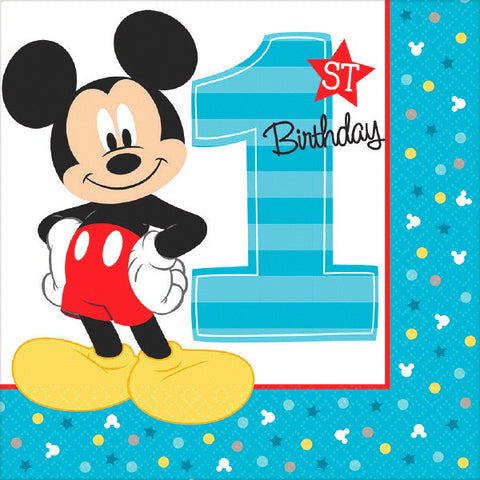 Mickey's Fun To Be One Luncheon Napkins 16ct.