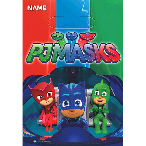 PJ Masks Folded Loot Bags 8ct.