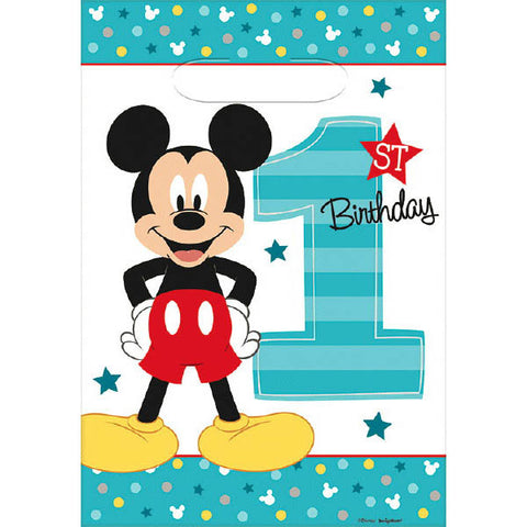 Mickey's Fun To Be One Folded Loot Bags 8ct.