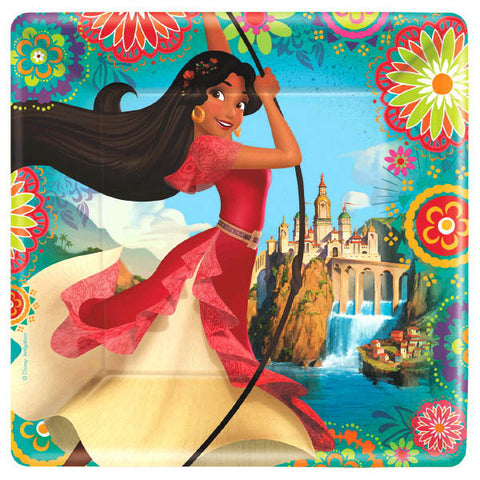 "Elena of Avalor Square Plates, 9"" 8ct."