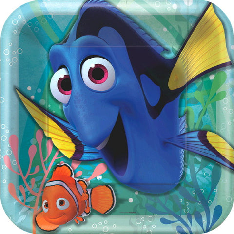"Finding Dory Square Plate, 9"" 8ct."