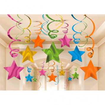 Multi Color Foil Shooting Stars Mega Value Pack Swirls 30ct.