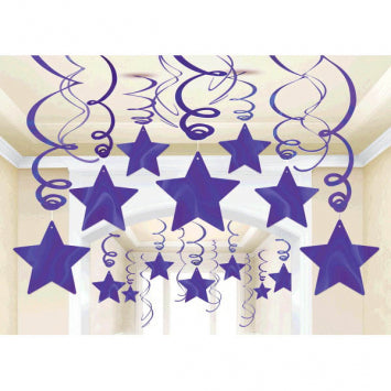 Purple Foil Shooting Stars Mega Value Pack Swirls 30ct.