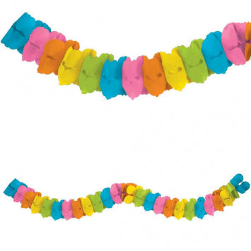 Multi Color Paper Garland 12'