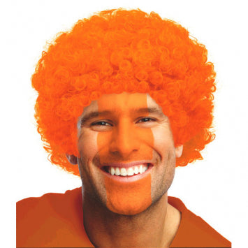 Orange Curly Wig