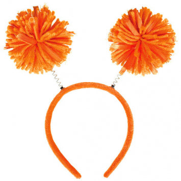 Orange Pom Pom Headbopper