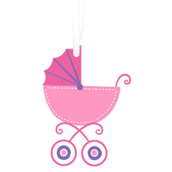 Baby Girl Paper Tags w/ Twist Ties 25ct.