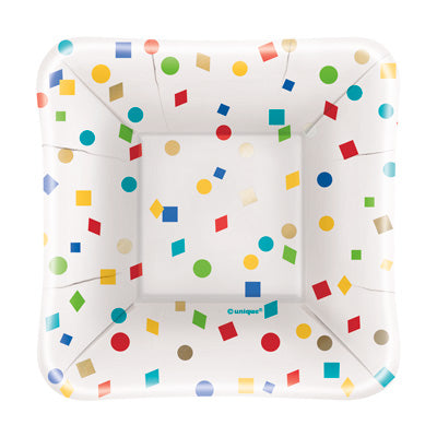 "Party Diamonds 5"" Square Appetizer Plates 8ct."