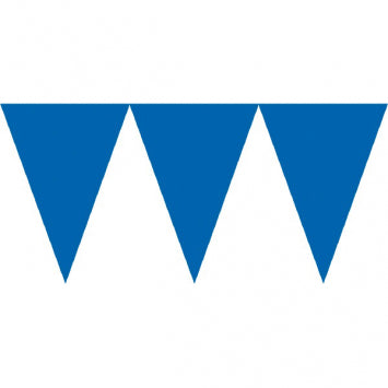 Bright Royal Blue Pennant Banners 24ct.