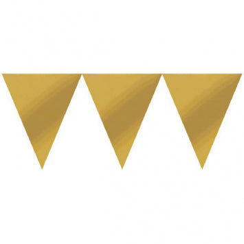 Gold Paper Pennant Banners 24ct.