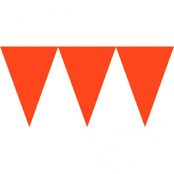 Orange Paper Pennant Banners 24ct.