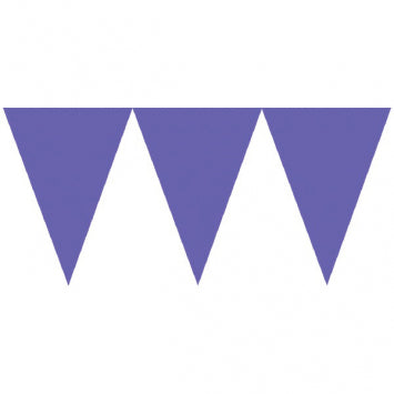 Purple Pennant Banners 24ct.
