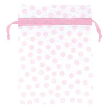 Baby Girl Dot Organza Favor Bags 12ct.