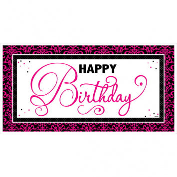 Black & Pink Giant Party Sign