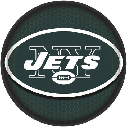 "New York Jets 9"" Round Plates 8ct."