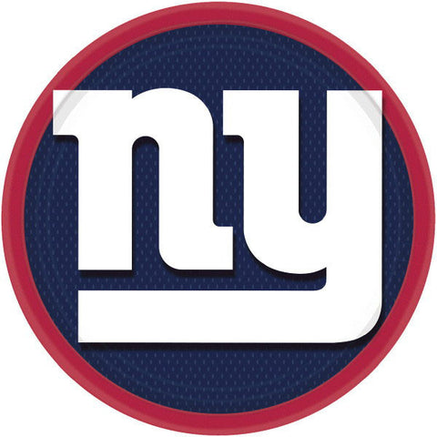 "New York Giants 9"" Round Plates 8ct."
