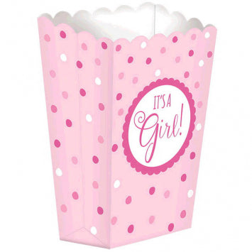 Baby Girl Shower Popcorn Boxes 20ct.