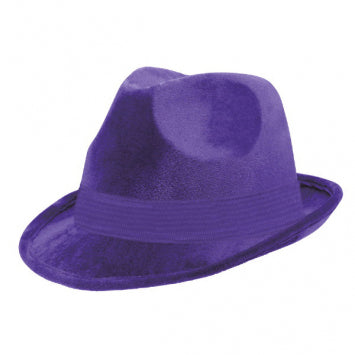 Purple Velour Fedora