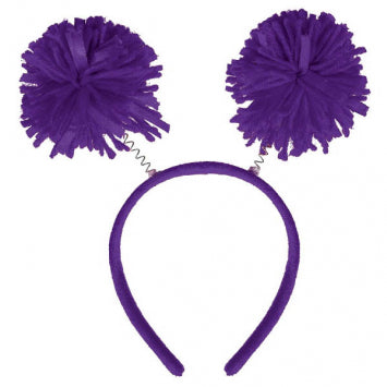 Purple Pom Pom Headbopper