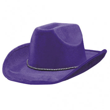 Purple Velour Cowboy Hat