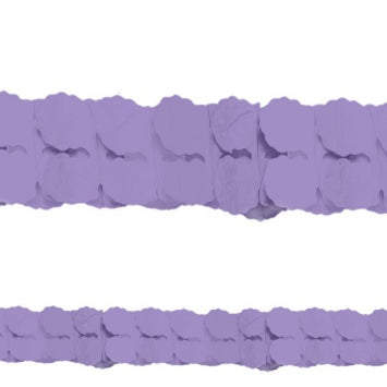 Purple Paper Garland 12'
