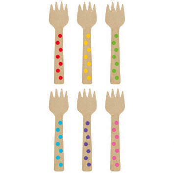 Rainbow Mini Wooden Forks 12ct.