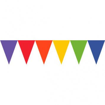 Rainbow Paper Pennant Banners 24ct.