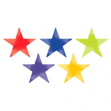 Rainbow Large Foil Star Cutouts 5ct.