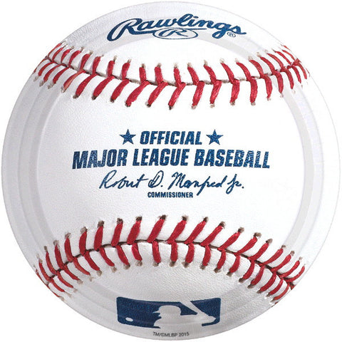 "Rawlings Baseball Round Plate, 9"" 8ct."