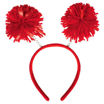 Red Pom Pom Headbopper