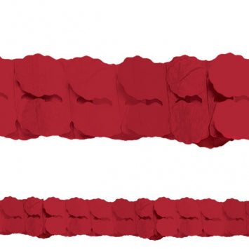 Apple Red Paper Garland 12'