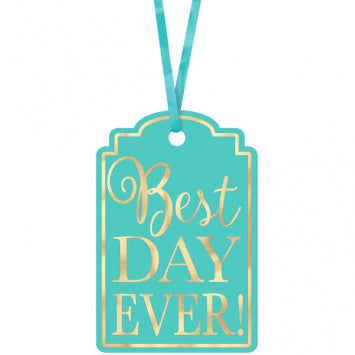 Robin's Egg Blue - Best Day Ever Printed Tags 25ct.