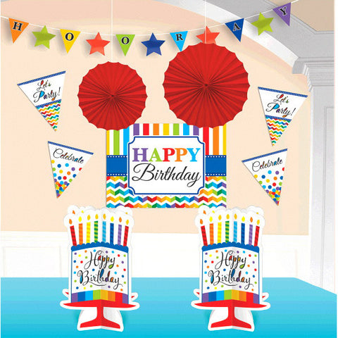 Bright Birthday Room Decorating Kit