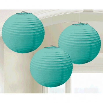 Robin's Egg Blue Round Paper Lanterns 3ct.