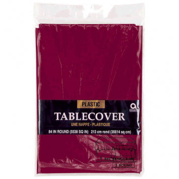 Berry Round Plastic Table Cover 84""